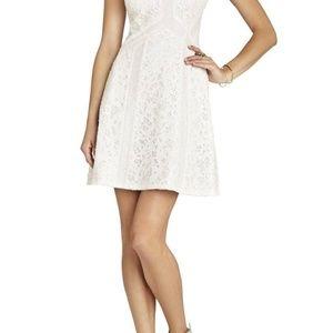 BCBG MAXAZRIA Gracie Lace Dress WHITE Size 8